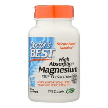 Doctor's Best - Chelated Magnesium Hi Abs - 1 Each-120 Tab
