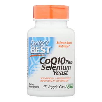 Doctor's Best - Coq10 + Selenium Yeast - 1 Each-45 Vcap