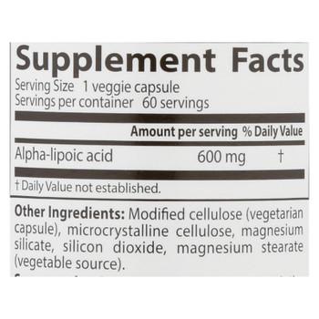Doctor's Best - Alpha Lipoic Acid - 1 Each-60 Vcap