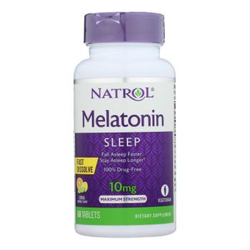 Natrol - Melatonin 10mg F/d Citrus - 1 Each - 60 Tab
