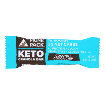 Munk Pack - Green Bar Coconut Coco Chips Kto - Case Of 6 - 4/1.12oz