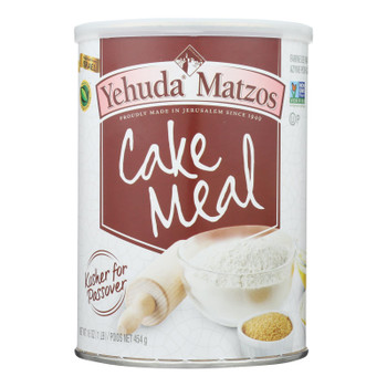 Yehuda - Cake Meal Canister Kosher For Passover - Case Of 12 - 16 Oz