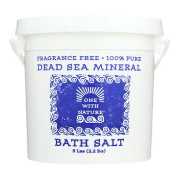 One With Nature Bath Salt, Dead Sea Bath Salts, Fragrance Free  - 1 Each - 5 Lb