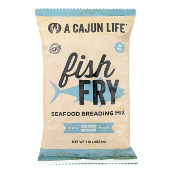 A Cajun Life Fish Fry Seafood Breading Mix - Case Of 6 - 1 Lb