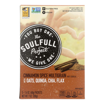 The Soulfull Pro - Hot Cereal Cinnamon Spce Gluten Free - Case Of 6 - 7 Oz