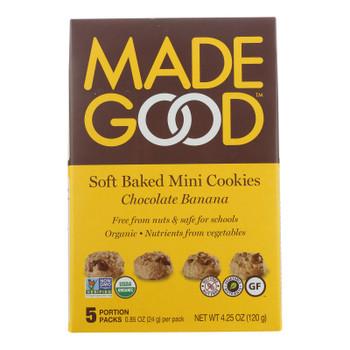 Made Good Soft Baked Mini Cookies Chocolate Banana - Case Of 6 - 4.25 Oz