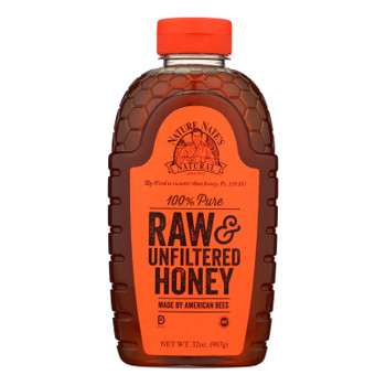 Nature Nate's 100% Pure Raw & Unfiltered Honey - Case Of 6 - 32 Oz