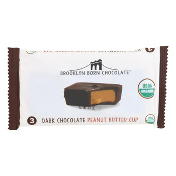 Brooklyn Born Chocolate - Pb Cups Dark Chocolate - Case Of 12 - 1.4 Oz