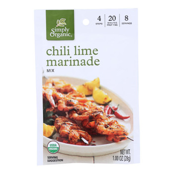 Simply Organic - Marinade Chili Lime - Case Of 12 - 1.00 Oz