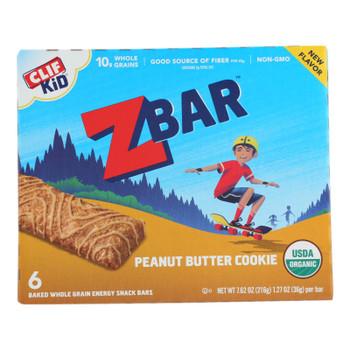 Clif Kid Zbar - Zbar Peanut Butter Cky - Case Of 9 - 6/1.27oz
