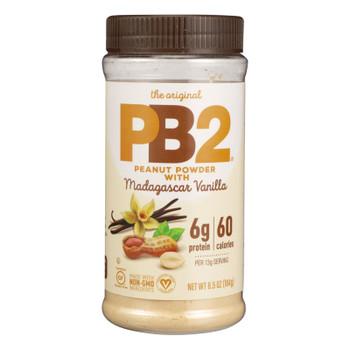 Pb2 - Peanut Butter Pwdrd Mad Vanilla - Case Of 6 - 6.5 Oz