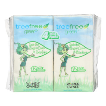 Green 2 - Facial Tissue 4pk Tree Fr - Case Of 24 - 4 Ct