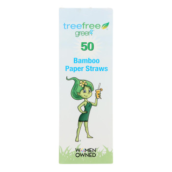 Green 2 - Straws 50 Ct Bamboo - Case Of 20 - 50 Ct