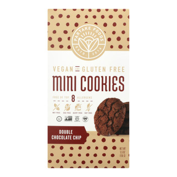 Partake Foods - Cookies Mini Double Chocolate Chips - Case Of 6 - 5.5 Oz