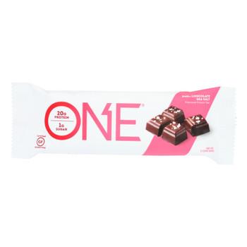 One Bar - Bar Protein Dark Chocolate Sea Salt - Case Of 12 - 60 Grm