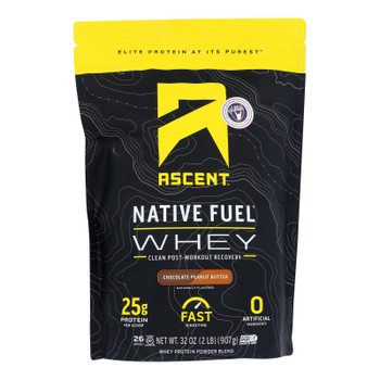 Ascent Native Fuel - Whey Chocolate Peanut Butter - 1 Each - 2 Lb