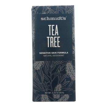 Schmidt's - Deodorant Stk Ttree Snstv Skin - 1 Each - 3.25 Oz