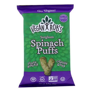 Vegan Rob's - Puffs Spinach - Case Of 12 - 3.5 Oz