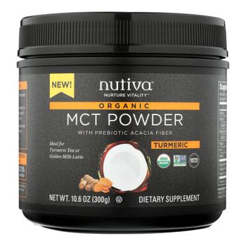 Nutiva - Powder Mct Turmeric - 1 Each - 10.6 Oz