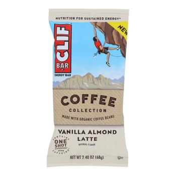 Clif Bar - Bar Coffee Vanilla Almond Latt - Case Of 12 - 2.4 Oz