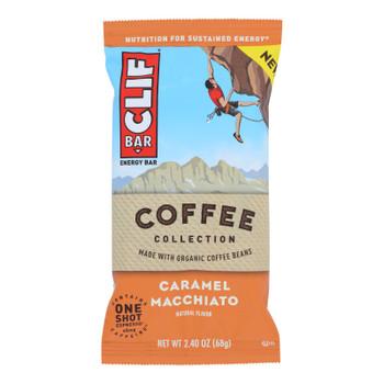 Clif Bar - Bar Coffee Caramel Macchto - Case Of 12 - 2.4 Oz