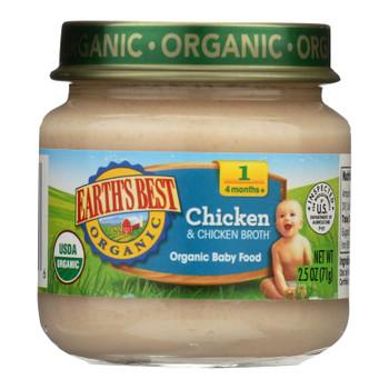 Earth's Best - Stage 1 Chicken & Chicken Broth - Case Of 10-2.5 Oz