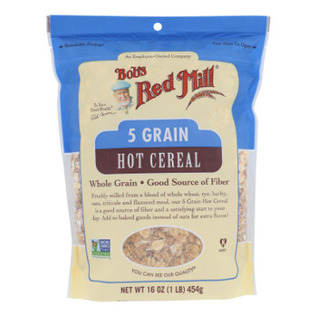 Bob's Red Mill - Cereal 5 Grain Rolled - Case Of 4-16 Oz