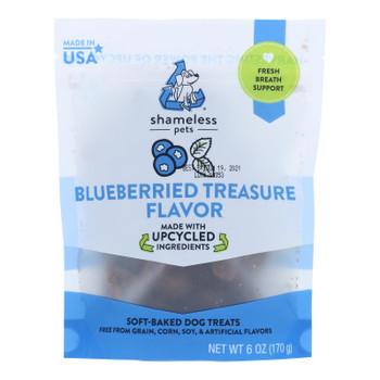 Shameless Pets - Treats Blueberried Treasure - Case Of 6-6 Oz