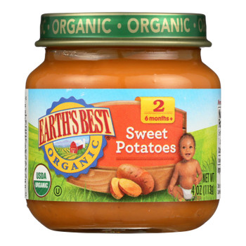 Earth's Best - Stage 2 Sweet Potatoes - Case Of 10-4 Oz