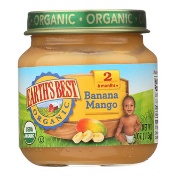 Earth's Best - Stage 2 Banana Mango - Case Of 10-4 Oz