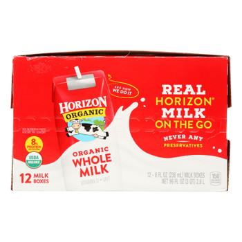 Horizon Organic Dairy - Milk Asptc Plain Whole - 1 Each - 12/8 Fz