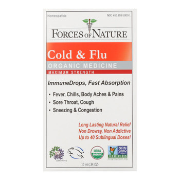 Forces Of Nature - Cold&flu Drp Max Immu - 1 Each - 10 Ml