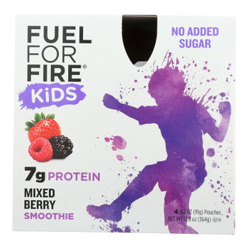 Fuel For Fire - Smoothie Kids Mixed Berry - Case Of 6 - 4/12.8oz