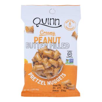 Quinn Popcorn - Pretz Nug Peanut Butter Filled - Case Of 8-1.5 Oz