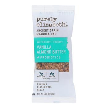 Purely Elizabeth - Bar Vanilla Almond Btr+probi - Case Of 70 - 1.06 Oz