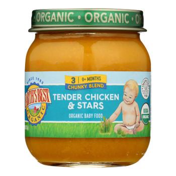 Earth's Best - Stage 3 Tender Chicken & Stars - Case Of 10-4 Oz