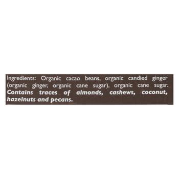 Taza Chocolate - Bar Wckd Dark Ginger 95% - Case Of 10 - 2.5 Oz
