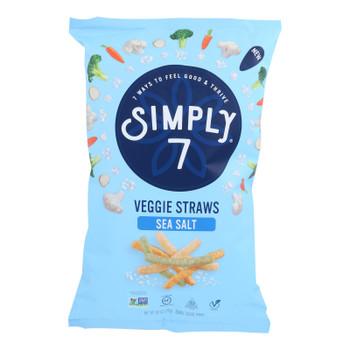 Simply 7 - Veggie Straw Sea Salt - Case Of 12 - 6 Oz