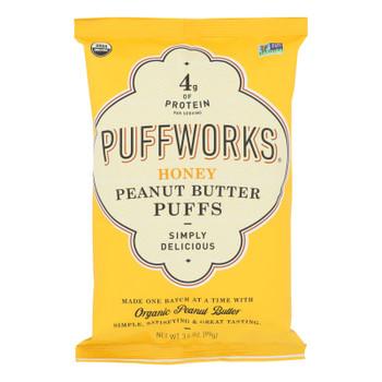 Puffworks - Puffs Honey Peanut Butter Gluten Free - Case Of 8-3.5 Oz