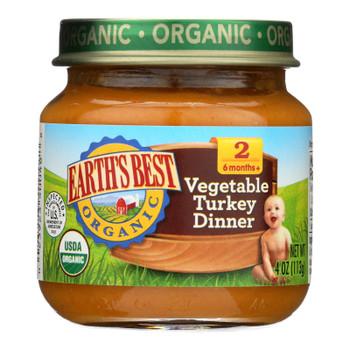 Earth's Best - Bby Food Og2 Veg Trky Dnr - Cs Of 10-4 Oz