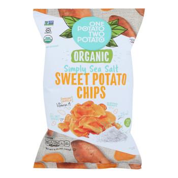 One Potato Two Potato - Sweet Pot Chip Sea Salt - Case Of 12 - 5.75 Oz
