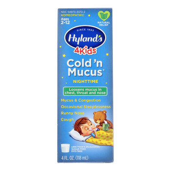 Hyland's - 4kids Cld N Mucus Nghttme - Ea Of 1-4 Fz
