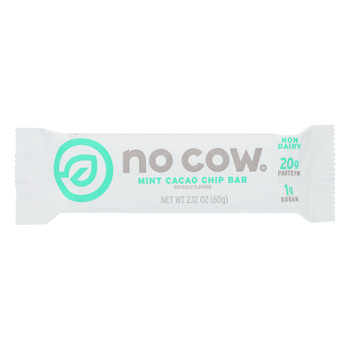 No Cow Bar Mint Cacao Chip Bar - Case Of 12 - 2.12 Oz