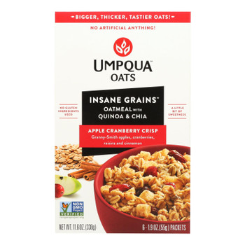 Umpqua Oats - Oats Apple Crnbry Packets - Case Of 8-11 Oz