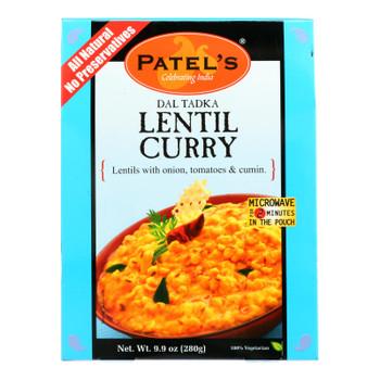 Patel's Lentil Curry - Case Of 10 - 9.9 Oz