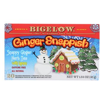 Bigelow Tea - Holiday Ginger Snap Tea - Case Of 6 - 20 Ct