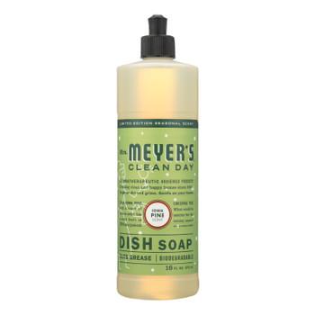 Mrs.meyers Clean Day - Dish Soap Liq Iowa Pine - Ea Of 1-16 Fz