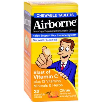 Airborne - Airborne Chew Tabs Citrus - 1 Each 1-32 Ct