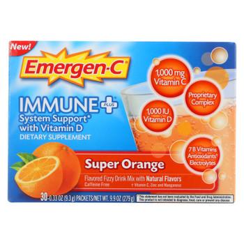 Emergen-c Immune Plus Super Orange Dietary Supplement  - 1 Each - 30 Pkt
