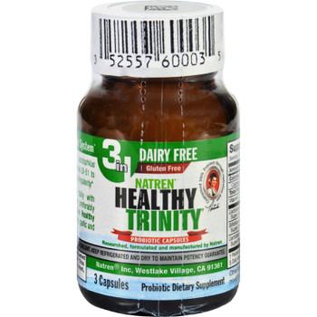 Natren - Healthy Trinity Probiotic - Case Of 6 - 3 Cap